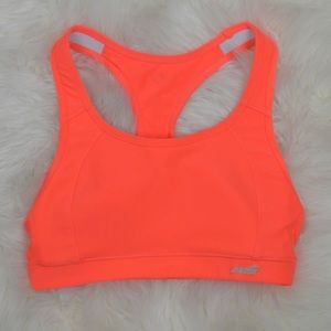 Avia Orange Luster High Impact Sports Bra, Small